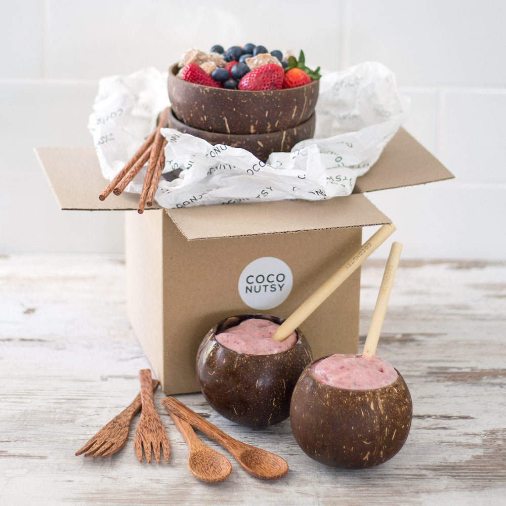 Coconut Bowls Gift Set for Two