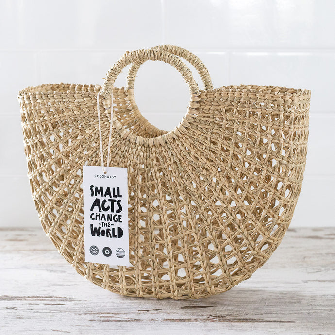 Half-Moon Seagrass Bag