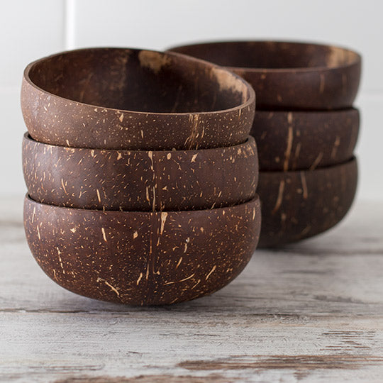 Coconut Bowls Set of Six