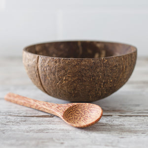 Natural Coconut Bowl with Spoon