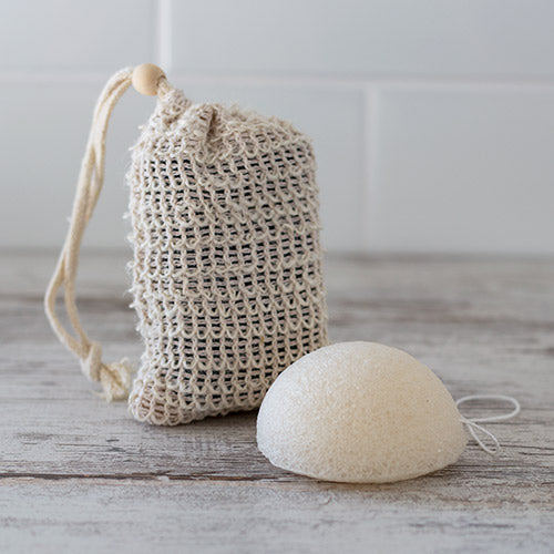Sisal Bag and Konjac Sponge
