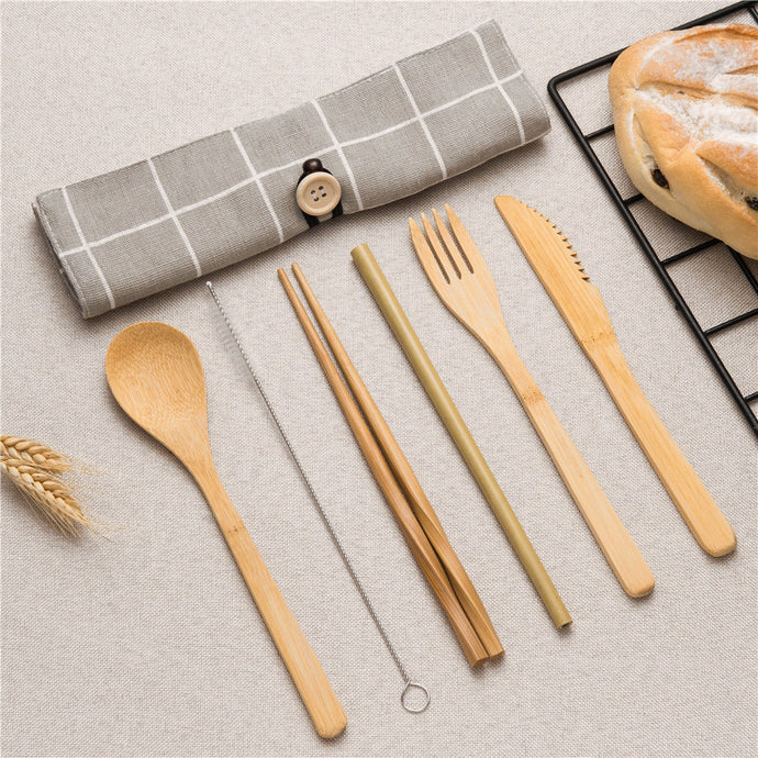 Bamboo Cutlery Travel Pack