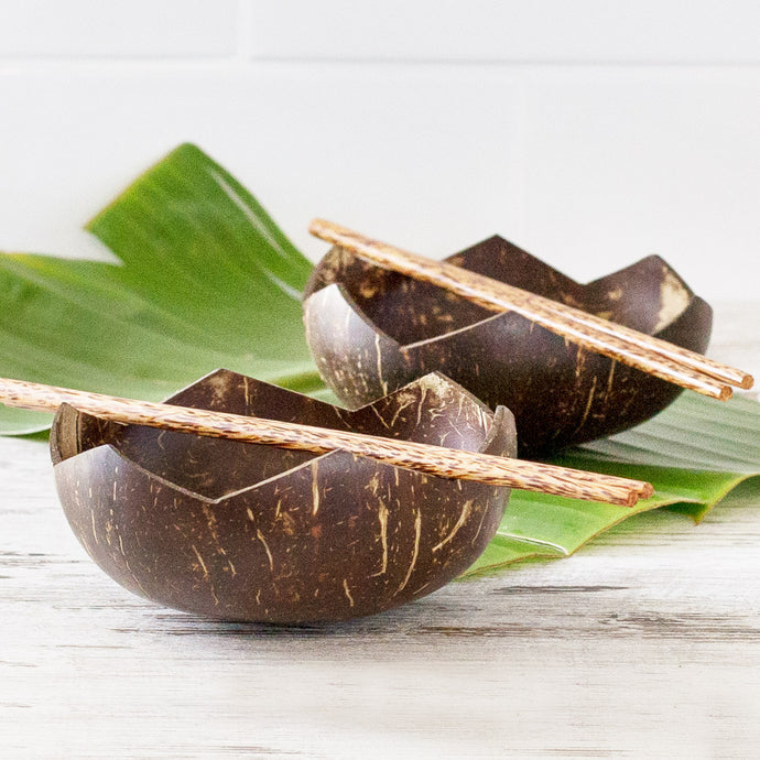 The Far East Coconut Dinner Bowls Set