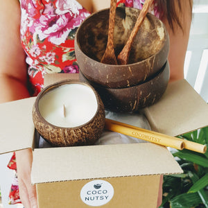 Jumbo Coconut Bowl Gift Set