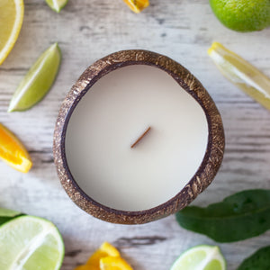 Creamy coconut and zesty citrus coconut candle