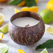 Load image into Gallery viewer, Zingy Citrus Coconut Soy Candle
