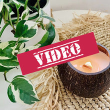 Load and play video in Gallery viewer, Coconut Candle Wooden Wick