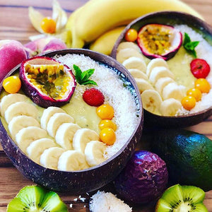 Jumbo coconut bowls with fruit