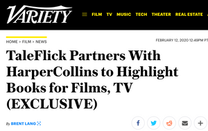 Variety: TaleFlick Partners with HarperCollins
