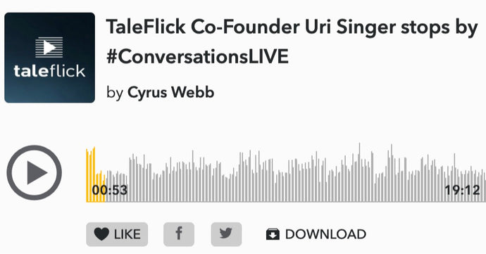 TaleFlick Co-Founder Uri Singer stops by #ConversationsLIVE