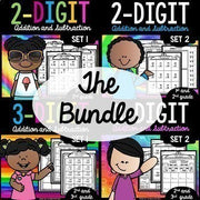2 and 3 Digit Addition and Subtraction With Regrouping Worksheets