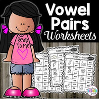 Vowel Pairs Worksheets | Phonics Practice Pages