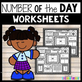 Number of the Day Worksheets Grade 2