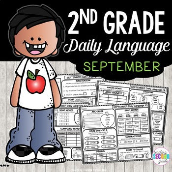 Morning Work September 2nd Grade | Daily Language