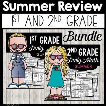 Summer Math Packets | 1st and 2nd Grade Worksheets