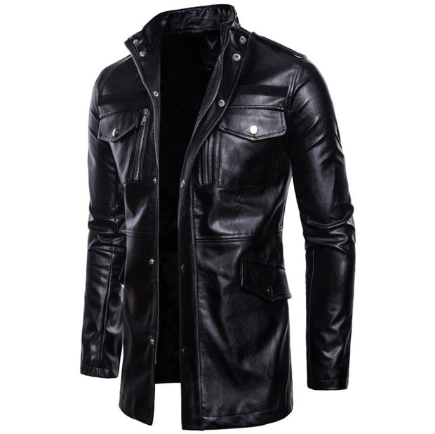 Denzell Outwear Leather Coat Denzell Outwear