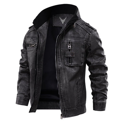 Denzell Outwear Leather Jacket Denzell Outwear