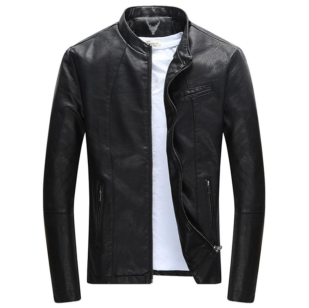 Denzell Outwear Slim Winter Leather Jacket Denzell Outwear Black XS