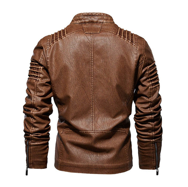 Denzell Outwear Browny Leather Jacket Denzell Outwear