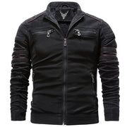 Denzell Outwear Winter Fleece Leather Jacket Denzell Outwear