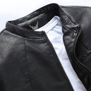 Denzell Outwear Slim Winter Leather Jacket Denzell Outwear