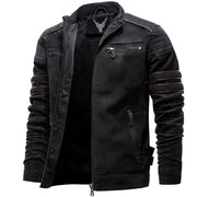 Denzell Outwear Winter Fleece Leather Jacket Denzell Outwear Black XS