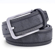 Denzell Outwear Trimmed Leather Belt Denzell Outwear DimGray 39inches - 100cm