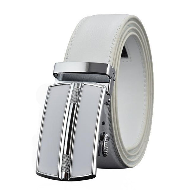 Denzell Outwear Chrome Mission Leather Belt Denzell Outwear White 43inches - 110cm