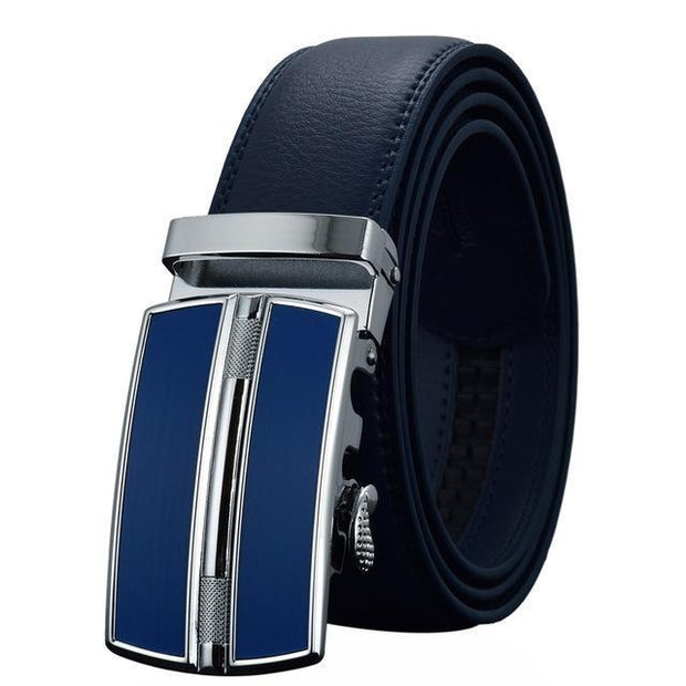 Denzell Outwear Chrome Mission Leather Belt Denzell Outwear DarkBlue 43inches - 110cm