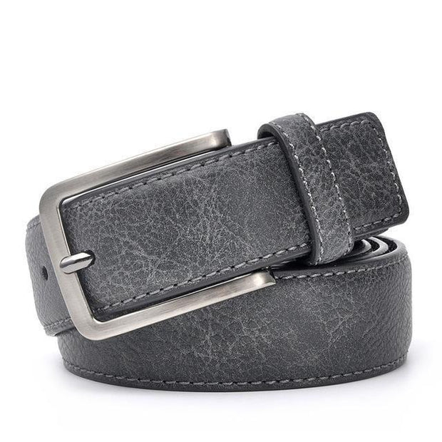 Denzell Outwear Vintage Style Leather Belt Denzell Outwear 41inches - 105cm DarkGray