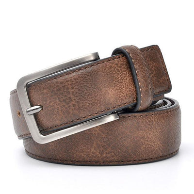 Denzell Outwear Vintage Style Leather Belt Denzell Outwear 41inches - 105cm SaddleBrown