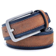 Denzell Outwear Trimmed Leather Belt Denzell Outwear SaddleBrown 39inches - 100cm