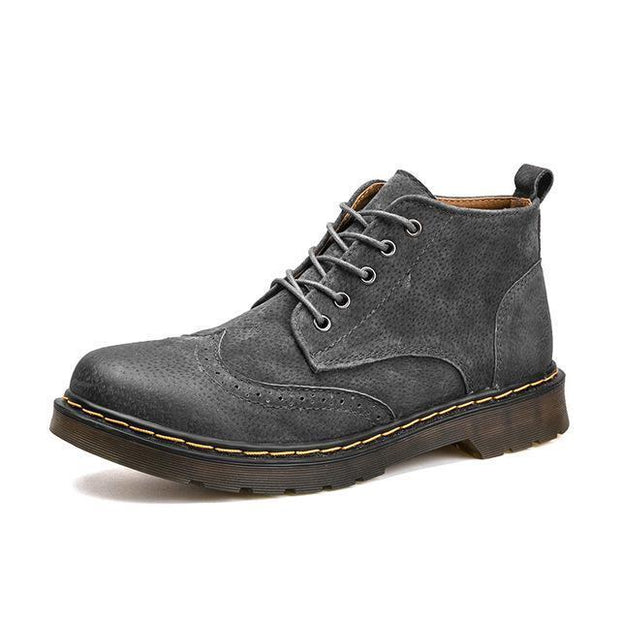 Denzell Outwear Vintage Leather Boots Denzell Outwear DimGray US 6.5 / EU 38