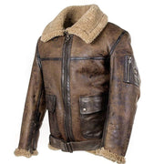 Denzell Outwear Leather Jacket With Plush Denzell Outwear