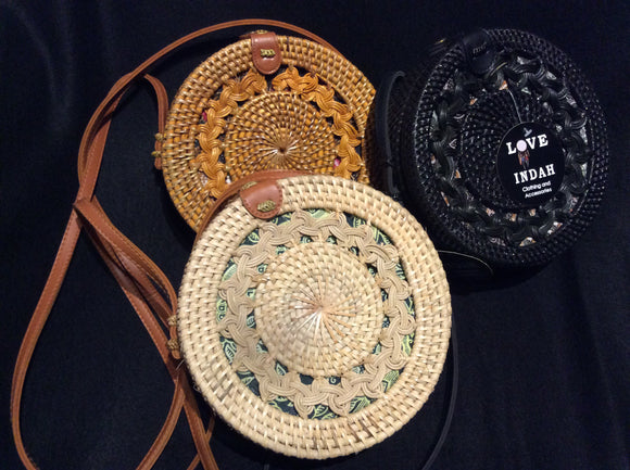 Round Ratten Bags