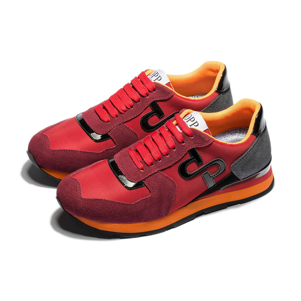 LACE-UP SUEDE SNEAKERS RED - OPP Online Store 844561ded