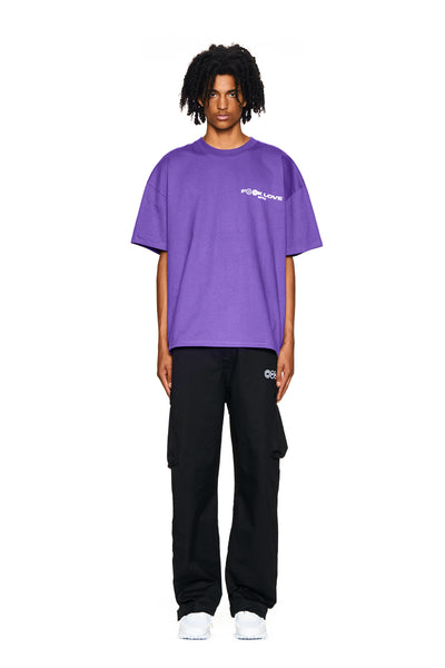 FUCK LOVE T-SHIRT PURPLE