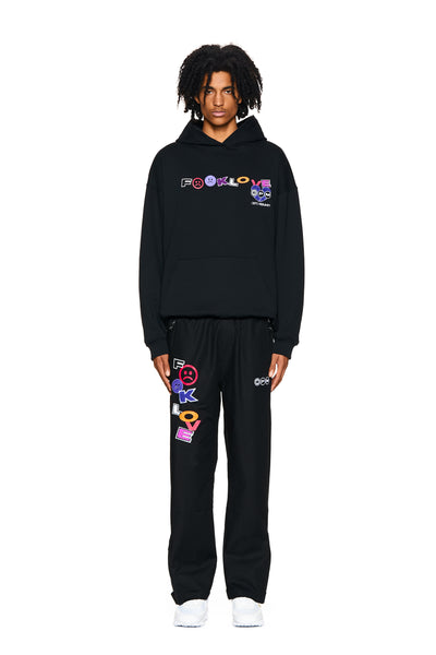FUCK LOVE TRACKPANTS BLACK