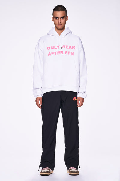 ONLY WEAR AFTER 6PM HOODIE WHITE