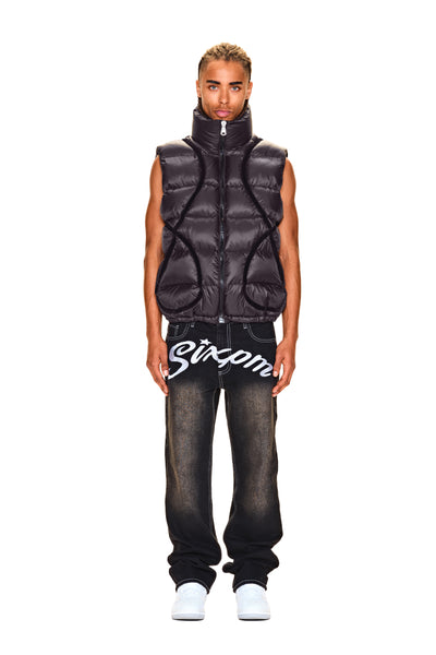 LABEL VEST BLACK