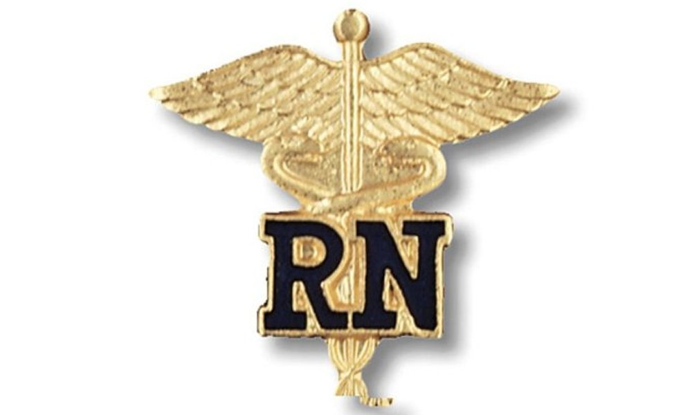 EMI Rn Registered Nurse Emblem Pin Caduceus