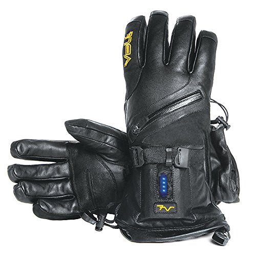 Volt Resistance Mens Titan 7v Heated Leather Glove, Black, Medium