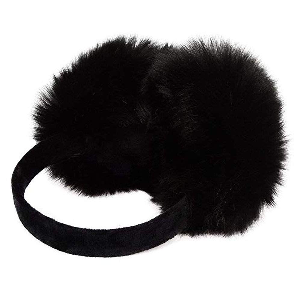 Pusheng Womens/Girls Cute Warm Faux Furry Earmuffs Winter Outdoor Adjustable EarMuffs