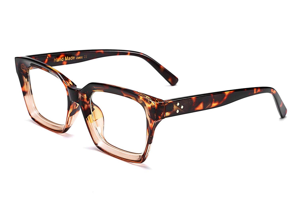 3d1cf6e6ba4e FEISEDY Classic Oprah Square Large Eyewear Non-prescription Thick Glasses  Frame for Women B2461