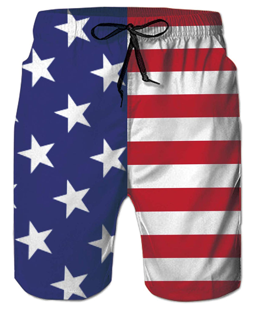 British Flag Eagle Summer Quick-Drying Board Short Swim-Trunk for Men