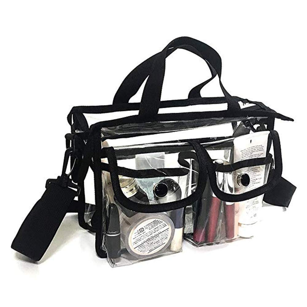 Peicees Transparent Women's Hobo Cross Body Handbags Clear Bags for Women with Coin Purse, NFL Stadium Approved