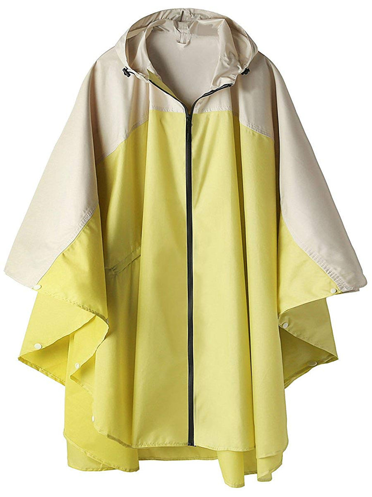 LINENLUX Women Rain Jacket Hooded Coat with Pockets Outdoors