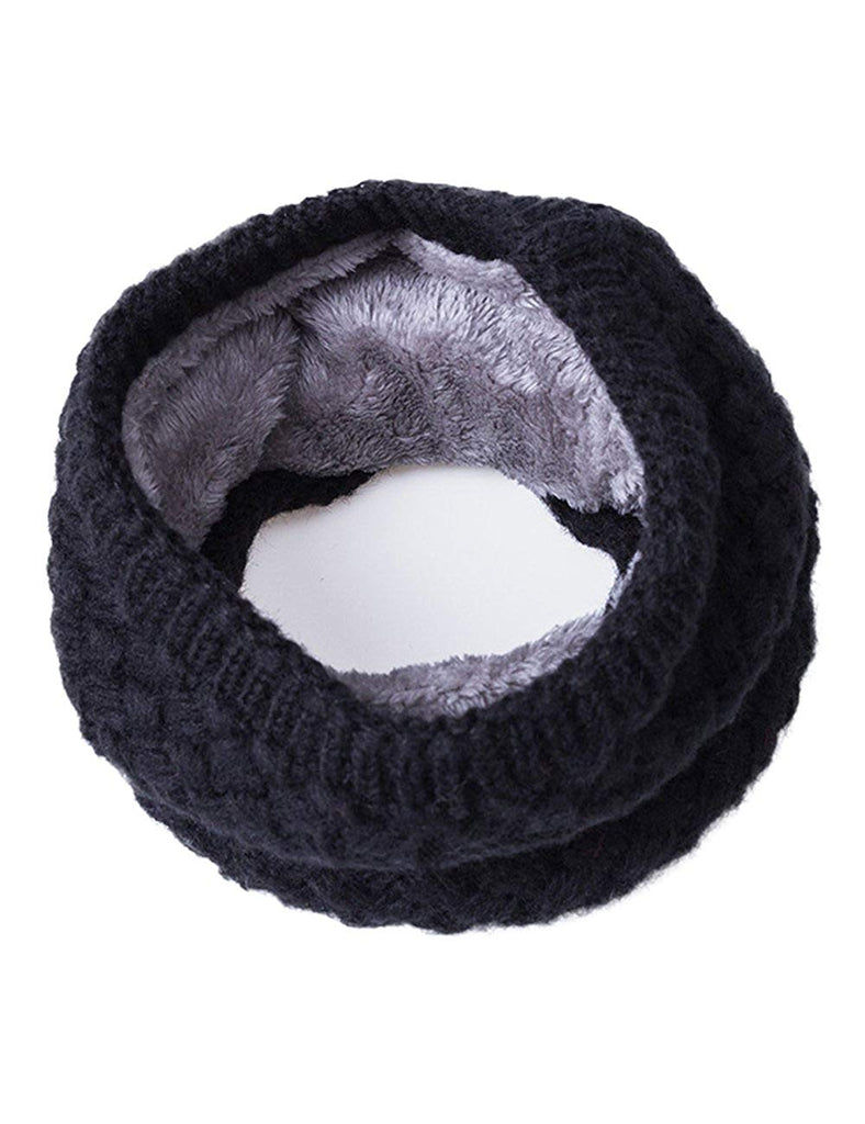 Winter Casual  Chunky Thick Knitted Fashion Winter  Headwrap Loop Scarf-L-Grey