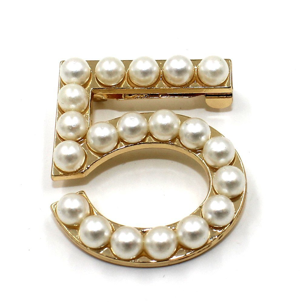 Xmall Fashion Pearl 5 Brooch