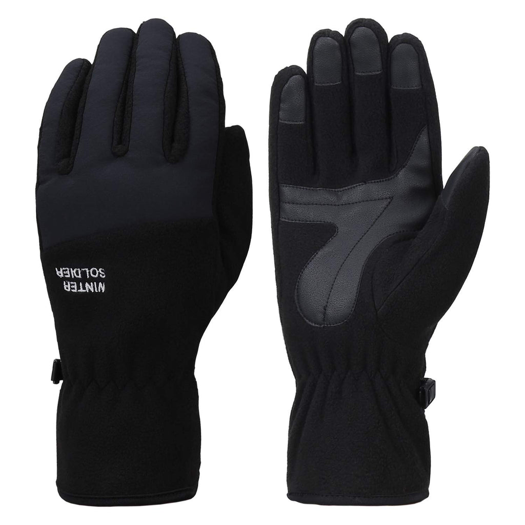 Mens Winter Touchscreen Gloves Ski Sport Windproof Warm Fleece Gloves for Men